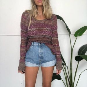 {Free People} open knit sweater